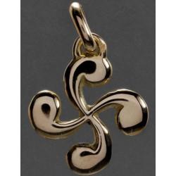 Boucles oreilles croix basque or 18 carats vendu sur la boutique en ligne de la bijouterie Loustau